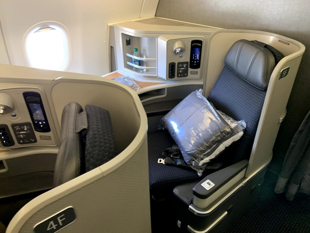 American Airlines Flagship First transcontinental First Class seat